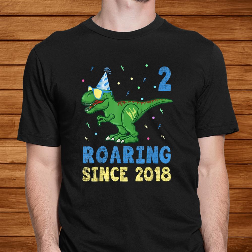 2 Year Old Shirtnd Birthday Boy Toddler Dinosaur Kids Shirt