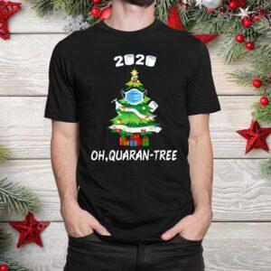 Funny Quarantine Christmas Tree Ornament Shirt