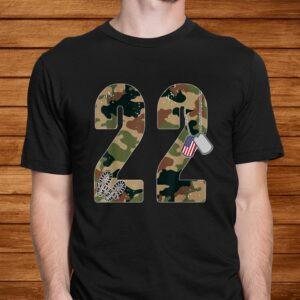 22 a day veteran shirt 22 too many ptsd awareness veterans t shirt Men 2