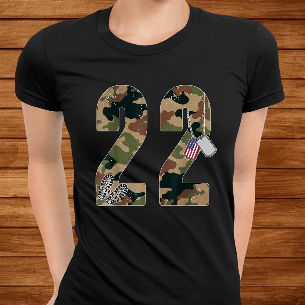22 A Day Veteran Shirt2 Too Many Ptsd Awareness Veterans Shirt
