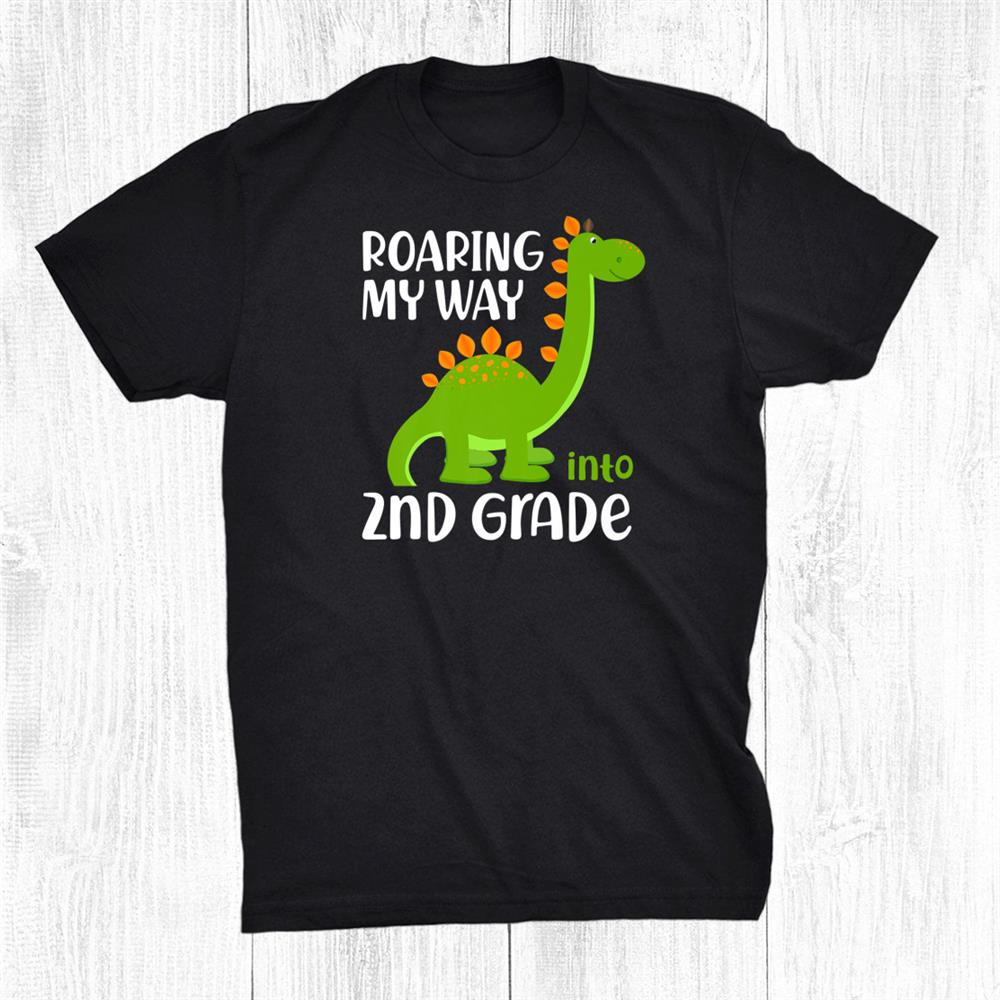 2nd Grade Student Back To School Dinosaur Brontosaurus Funny Shirt