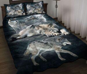 3d Beautiful Wolves Quilt Bedding Set