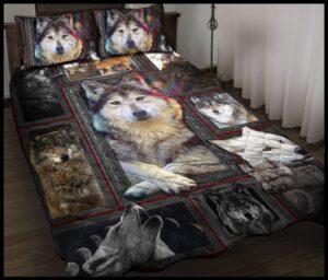 3d Huge Wolf Quilt Bedding Set