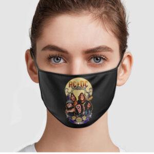AC DC Halloween Face Mask