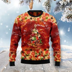 All I Want For Christmas Is Pizza Ugly Christmas Sweater
