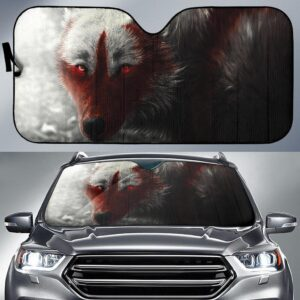 Arctic Wolf Car Sun Shade
