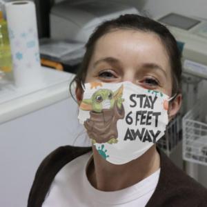 Baby Yoda Stay Feet Away Cloth Face Mask