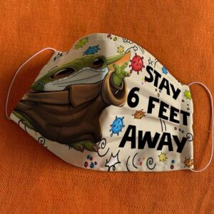 Baby Yoda Stay Feet Away Cloth Mask