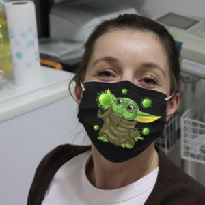 Baby Yoda Take Corona Cloth Face Mask