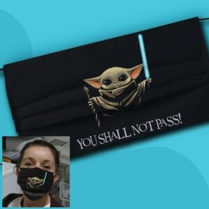 Baby Yoda You Shall Not Pass Cloth Face Mask