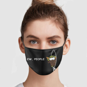 Baby Yoda Zipper Ew People Face Mask