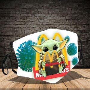 Baby Yoda Hug McDonald's Cloth Mask