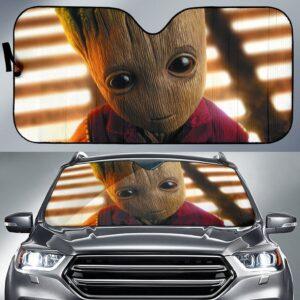 Baby Groot Car Sun Shade