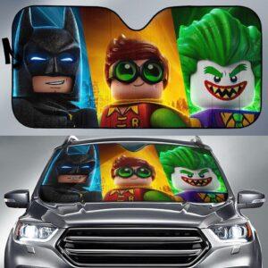 Batman Robin Joker Lego Car Sun Shade