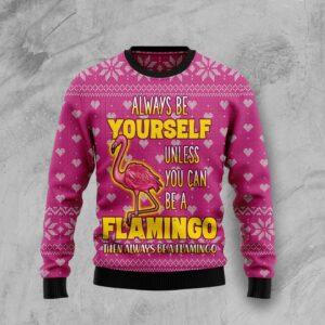 Be A Flamingo Ugly Christmas Sweater