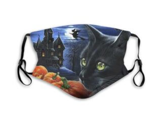 Bewitching Hour Halloween Cat Face Mask