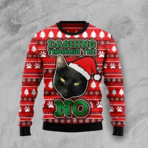 Black Cat Ugly Christmas Sweater