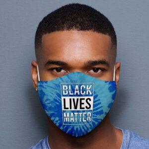 Black Lives Matter Tie Dye Face Mask