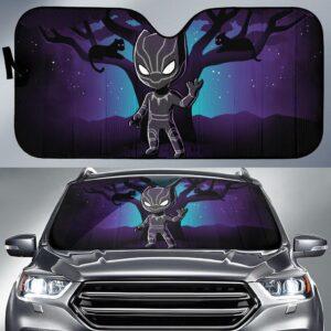 Black Panther Chibi Car Sun Shade