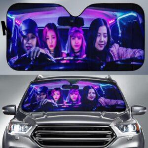 Black Pink Driving Car Sun Shade