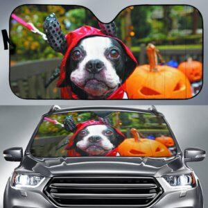 Boston Terrier Haloween Car Sun Shade
