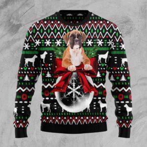 Boxer Xmas Ball Ugly Christmas Sweater