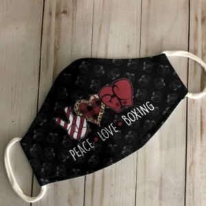 Boxing Peace Love Cloth Face Mask