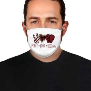 Boxing Peace Love Face Mask