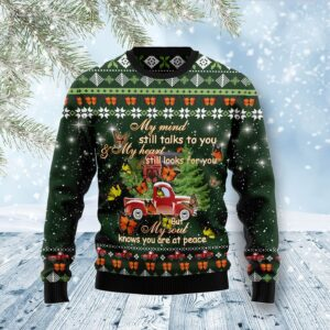 Butterfly Christmas Season My Mind Ugly Christmas Sweater