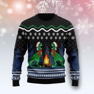 Camping Rex Ugly Christmas Sweater