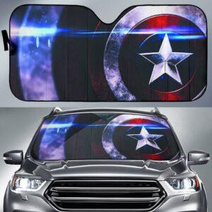 Captain America Shield Car Sun Shade