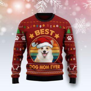 Cardigan Welsh Corgi Best Dog Mom Ever Ugly Christmas Sweater