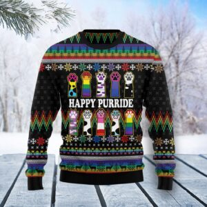 Cat LGBT Color Ugly Christmas Sweater