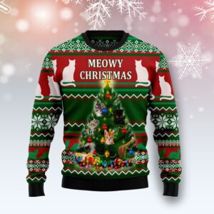 Cat Meowy Christmas Ugly Christmas Sweater