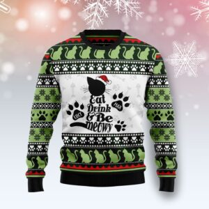 Cat Meowy Personalized Ugly Christmas Sweater