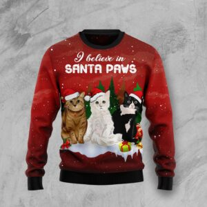 Cat Santa Paws Ugly Christmas Sweater
