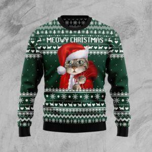 Cat Santa Ugly Christmas Sweater