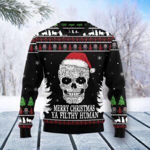 Cat Skull Santa Ugly Christmas Sweater