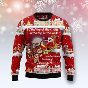 Cat Sleigh Christmas Ugly Christmas Sweater