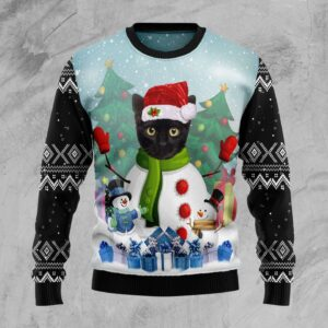 Cat Snowman Ugly Christmas Sweater