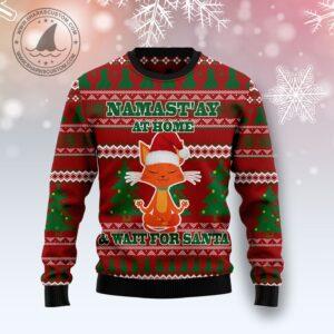 Cat Yoga Ugly Christmas Sweater