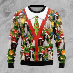 Cavalier King Charles Spaniel Xmas Pine Ugly Christmas Sweater