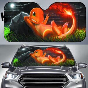 Charmander Pokemon Car Sun Shade
