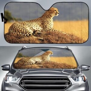 Cheetah Car Sun Shade