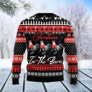 Chicken Farm Ugly Christmas Sweater