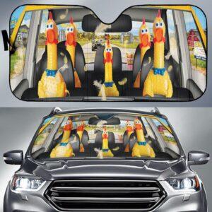 Chicken Funny Car Sun Shade