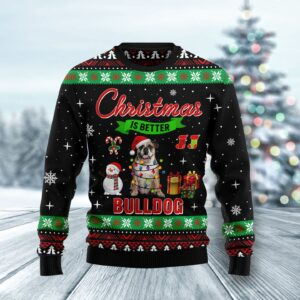 Christmas Is Better With Bulldog Ugly Christmas Sweater
