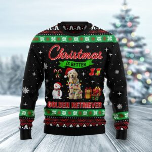 Christmas Is Better With Golden Retriever Ugly Christmas Sweater