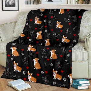Corgi Fleece Blanket
