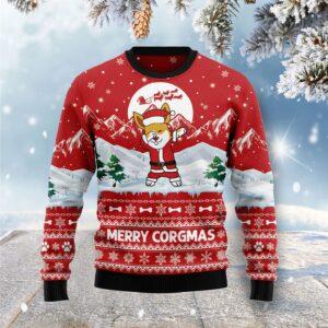 Corgi Merry Xmas Ugly Christmas Sweater
